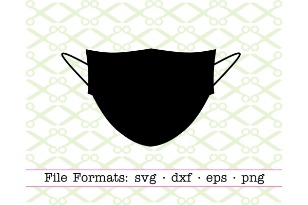 Face Mask Svg File Cricut Silhouette Files Svg Dxf Eps Png Monogramsvg Com By Svg Designs